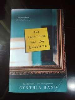 YA: The Last Time We Say Goodbye by Cynthia Hand