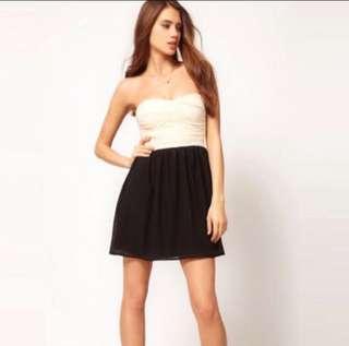 🚚 ASOS Rare London Contrast Bandeau Dress UK 10