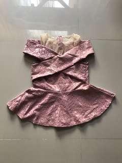 Pink Floral Off-Shoulder Top