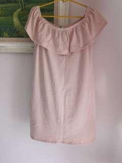 Light Pink Off Shoulder Dress