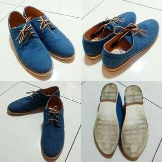 🚚 藍色紳士鞋僅短暫穿一次