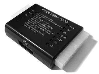 Power supply unit PSU Tester motherboard gfx graphics gpu card SATA Molex cable connector for desktop computer
