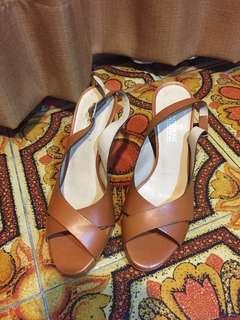 Renouard Heels Leather Brown