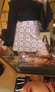 Topshop Floral Mini Skirt