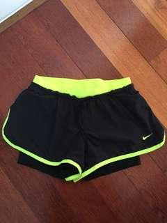 Nike running shorts with compression shorts