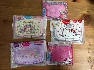 全新 日本購 sanrio 濕紙巾蓋 hello kitty my melody  little twins stars包平郵
