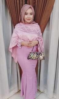 Mermaid Dress + Cape Full Pearl