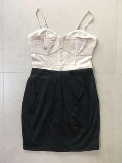🚚 H&M satin bustier dress size 36