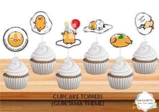 Gudetama Cupcake Toppers