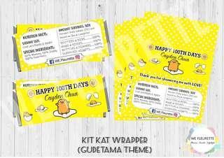 Gudetama Kit Kat Wrapper