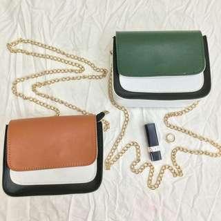 Color Block Sling Bag