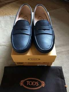 TOD's 女 皮鞋 深藍 Loafers Size 38.5