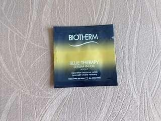 Biotherm - Blue Therapy Seum-In-Oil Night reparation nocturne visible overnight 晚間精華 visible recovery 修復 光澤感 回復 魚油精油滋潤冬天乾燥皮膚toys types de peau all skin type travel skincare kit 短程 旅行套裝