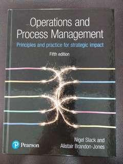Operations and Process Management fifth edition