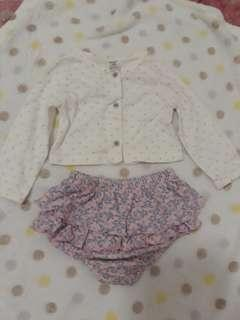 Top and skirt set ( Carter's)