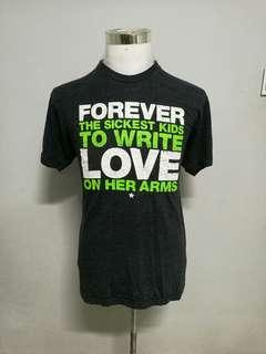 FOREVER THE SICKEST KIDS x TO WRITE LOVE ON HER ARMS t-shirt