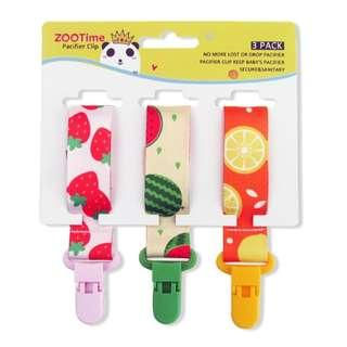 🚚 Zootime 3PCS Baby Universal Pacifier Clip Adjustable 3 Designs