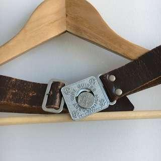Vintage Authentic Girls Guide Leather Belt