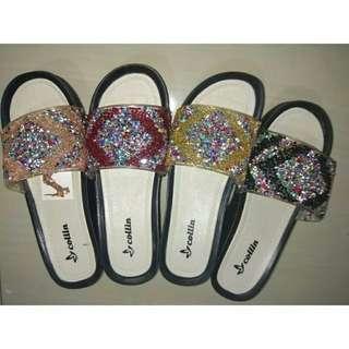 Sandal jelly wedges kerlip