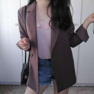 Chic Brown Blazer Jacket