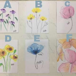 Water color cards for gifts
