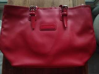 🚚 Used LongChamp Red hand bag