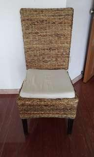 House moving - rustic rattan chair