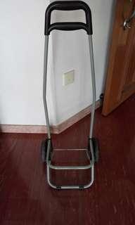 Trolley for marketing basket, luggage bag, fishing equipment etc