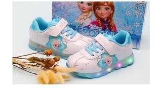 韓國直送 Frozen Elsa 閃燈波鞋