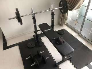 Bench press & dumb bell set