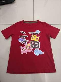 Giordano Red Shirt (6-7t)