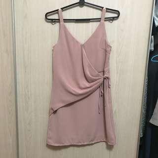 Lovebonito Blush Wrap Dress