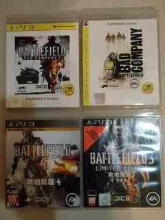 Ps3 Game Battlefield ($120 for all)