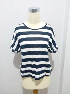 Kaos MURAH - Blue & White Stripes
