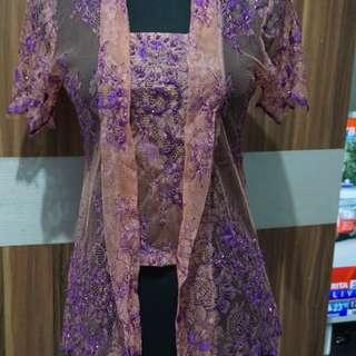 Kebaya With Purple Payet