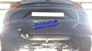 #jetexexhausts_vw. #jetexexhaustsasialink. VW Scirocoo in the house to upgrade Jetex 3 inch LTA approval catback system.