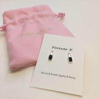 Forever K 韓式唇膏純銀耳環 silver earrings