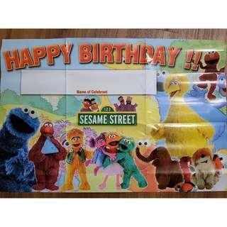 Sesame Street Background Banner