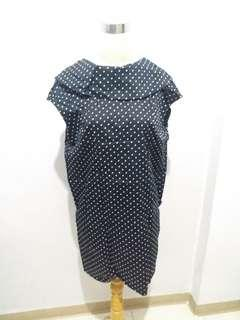 Dress Hitam Polkadot