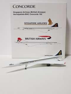 Concorde SIA and BA Scale 1:400