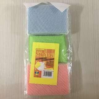 Twin Shark multipurpose kitchen cleaner sponge (3pcs/ pack)