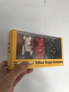Yellow orchestra bearbrick 100% box set