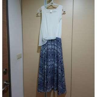 正韓 民族風圖騰連身長裙