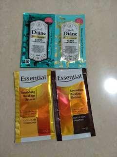Essential moist diane shampoo treatment samples