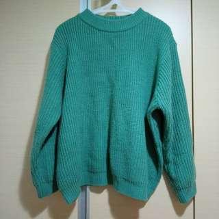 正韓 綠綠厚毛衣