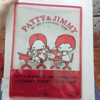 76 Sanrio patty and jimmy 膠folder