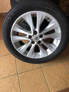 Alphard Vellfire Sport Rim with Michellin Tyre Tayar 235/50/18