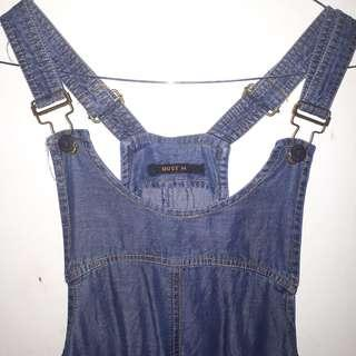overall jeans outer