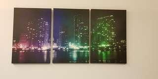 Lelong Quick Sales - Modern Skyline Canvas Art - 60cm x 40cm x 3cm