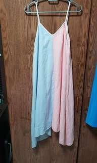 Pastel colourblock dress